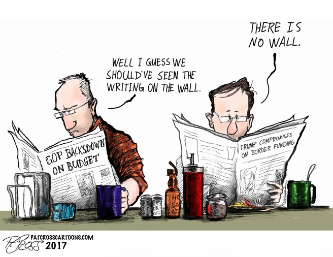 There is no wall